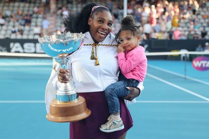 Serena Williams | Tennis star Serena Williams won the 2017 Australia Open while two months pregnant with her daughter Olympia. The 23-time Grand Slam champion hasn't won a Grand Slam title since giving birth, but she has finished runner-up in the 2018 Wimbledon, 2018 U.S. Open, 2019 Wimbledon and 2019 U.S. Open.