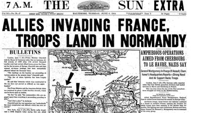 Retro Baltimore: How D-Day was covered in the Sunpapers