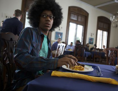 """Tyler James Williams in the movie """"Dear White People."""""""