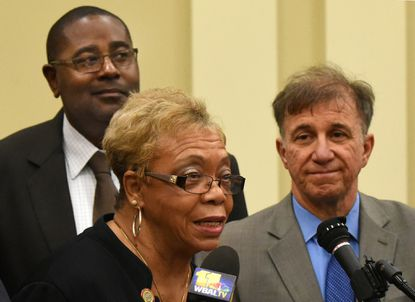 Sen. Shirley Nathan-Pulliam, pictured in 2017, resigned Dec. 1, citing health problems. Democrats have offered two names to Gov. Larry Hogan to fill her term: Del. Charles Sydnor of Catonsville and Del. Keith Haynes of Baltimore.