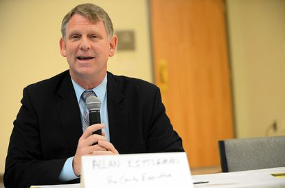 Allan Kittleman, the Republican candidate for Howard County Executive, speaks during a forum in April.