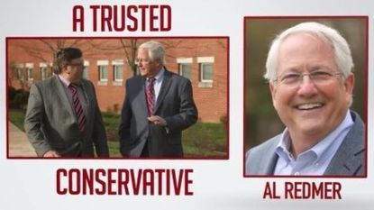 A new TV ad from State Insurance Commissioner Al Redmer Jr. in the race for Baltimore County executive takes aim at his GOP primary opponent, Del. Pat McDonough.
