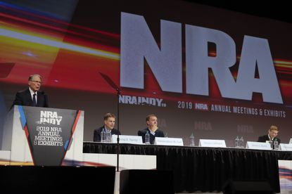 National Rifle Association Executive Vice President Wayne LaPierre speaks at the NRA Annual Meeting of Members in Indianapolis in April.