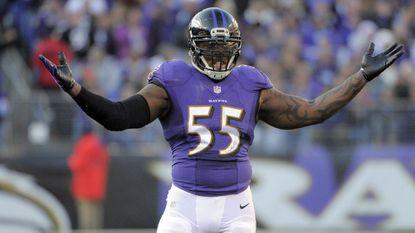Ravens linebacker Terrell Suggs.