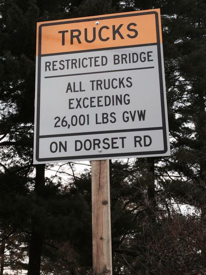 Dorset Road in Laurel has crumbling infrastructure underneath the roadway, which has led city officials to implement a weight limit of 26,000 pounds.