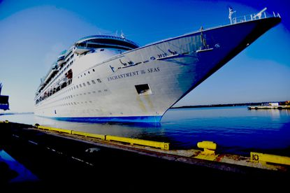 Enchantment of the Seas, a 2,252 guest Royal Caribbean cruise ship, is shown in a Baltimore Sun file photo.