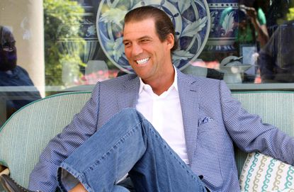 Baltimore Ravens owner Steve Bisciotti during an interview the at the NFL owners meeting in Palm Beach.