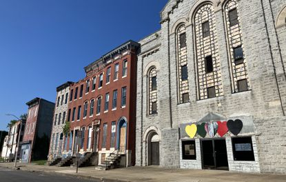 Authors of a new master plan say the old Harlem Park Theater on Gilmor Street in West Baltimore has potential as an arts hub. (Baltimore Sun staff).
