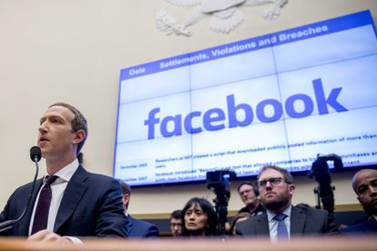 Facebook CEO Mark Zuckerberg testifying before a House Financial Services Committee hearing on Capitol Hill in October.