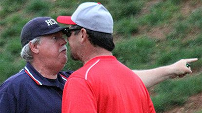 MLB Network's Mitch Williams argues with umpire in youth game in Aberdeen