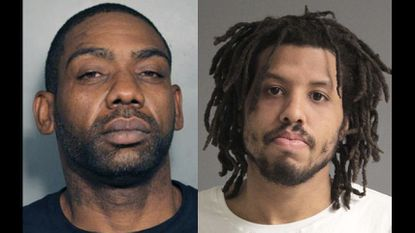 Calvin Bernard Williams, 40, and Darrace Raymond James, 27,an armed carjacking at a gas station in Laurel last week, Anne Arundel County police said.