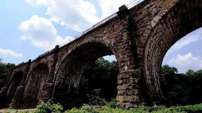 """The Thomas Viaduct, in Elkridge, completed in 1835, remains on the """"end"""