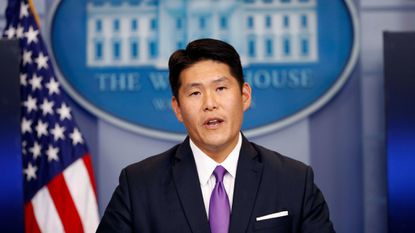 Principal Associate Deputy Attorney General Robert K Hur speaks during a press briefing at the White House in Washington, Thursday, July 27, 2017 (file photo).