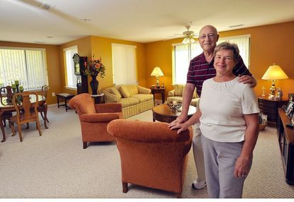 John and Pat Kasuda's apartment home in the Charlestown retirement community has 2,000 square feet, which is more living space than their former home in Glen Burnie.