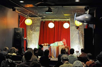 """Artists draft their vision of Little Luna at Dr. Sketchy's burlesque drawing class at the <a href=""""http://findlocal.baltimoresun.com/listings/windup-space-baltimore"""">Wind-Up Space</a>."""
