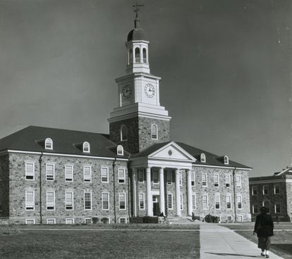 Holmes Hall on Morgan State University campus in 1953.