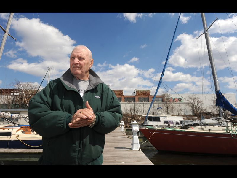 With Plank in, some boaters out at Baltimore Yacht Basin