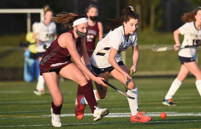 Broadneck's Maya Everett, seen in this file photo from a game against Severna Park last spring, scored the game-winning goal against the Falcons in double overtime on Tuesday.