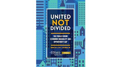 Wednesday: United Not Divided: The Public Forum on Economic Inequality and Opportunity Gap