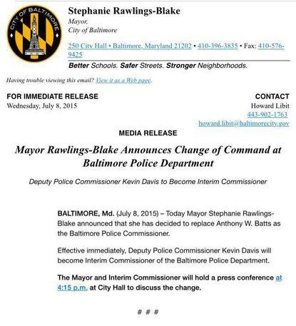 SRB fires Police Commissioner Anthony Batts