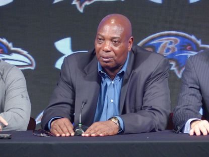 Ravens general manager Ozzie Newsome.