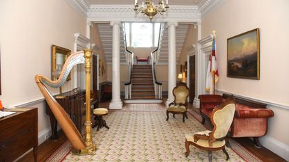 The hall entrance of the historic Chase Lloyd House in Annapolis.