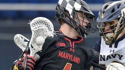 Maryland's Jared Bernhardt, shown in a game earlier this season, scored the game-winner in overtime for the Terps against Ohio State.