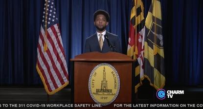 Baltimore City Mayor Brandon Scott gives the 2021 State of the City address.