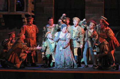 """A scene from Gounod's """"Romeo et Juliette"""" in the co-production being presented by Lyric Opera Baltimore."""