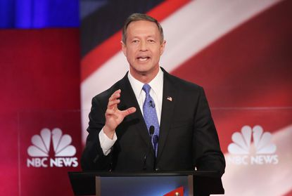 Democratic presidential candidate Martin O'Malley participates in the Democratic Candidates Debate hosted by NBC News and YouTube.