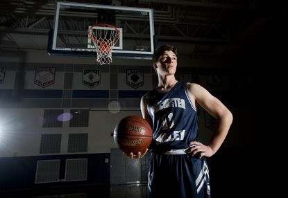 Manchester Valley senior Brett DeWees is the 2020 Carroll County Times Boys Basketball Player of the Year.