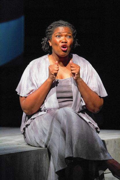 "Columbia resident Kelly Renee Armstrong appeared in ""Our War,"" at Arena Stage through Nov. 9."