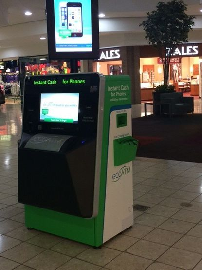 An ordinance passed by the Westminster City Council will require owners of electronic kiosks that exchange cash for items, such as ecoATM in the Town Mall of Westminster, to report transactions to the Westminster Police Department.
