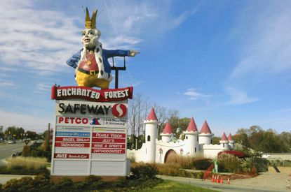 The area that once housed Enchanted Forest on Rt. 40 is being cleaned up.