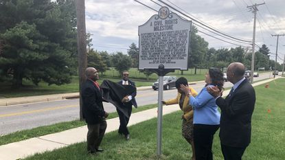 Delegate unveils marker in Catonsville to highlight initial efforts to desegregate Baltimore County schools