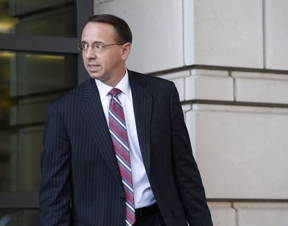 U.S. Attorney for the District of Maryland Rod J. Rosenstein departs US District Court in Washington.