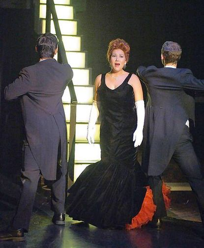 """Janine Gulisano-Sunday stops the show with a jazzy torch solo in """"Irving Berlin's White Christmas,"""" now at Toby's Dinner Theatre of Columbia through Jan. 8, 2012."""