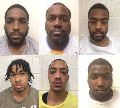 Clockwise from top left, Stephen Treymane Johnson, Jessie B. Walton Jr., Jawuan Eric Bolling, Tyqwell Latre-Aquel Booker, Antoine Keith Rich and Cameron Ikil Spicer were indicted by a Cecil County grand jury for their role in a violent home invasion in April.
