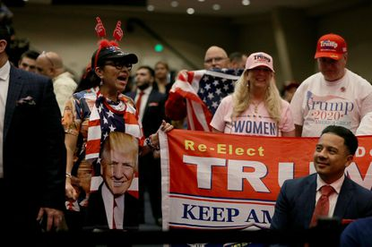 """Supporters welcomed President Donald Trump to the """"Evangelicals for Trump"""" campaign rally at El Rey Jesus Evangelical church in Kendall, Florida last week."""