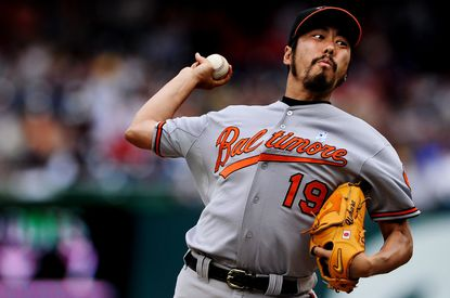 """Could reliever Koji Uehara be back in an Orioles uniform next season? """"He's on our list, we like him,"""" O's executive vice president Dan Duquette said."""