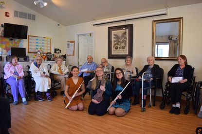 The Golden Melody: Music for a Cause Club with some of the residents of Angel's Touch Assisted Living.