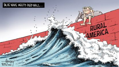 The blue wave hit a red wall on Election Day