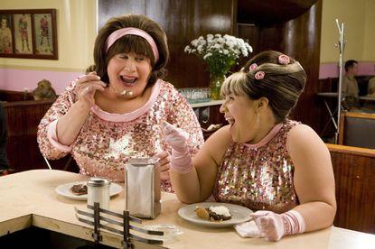 "John Travolta and Nikki Blonsky in ""Hairpsray"