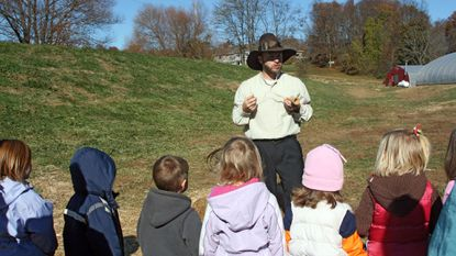 Families can learn about a pilgrim's life and a farmer's job at tours at Sharp's at Waterford Farm.