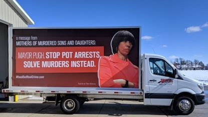 MOMS plans to unveil its mobile billboard at a news conference Thursday at 11 a.m. at War Memorial Plaza.