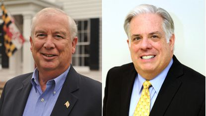 David Craig (left) and Larry Hogan (right) are the leading contenders for the Republican nomination in June's gubernatorial primary. Hogan, a late entry in the race, is outpacing his counterpart in fundraising.