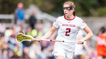 Boston College's Sam Apuzzo is The Baltimore Sun's women's lacrosse National Player of the Week after leading the Eagles to two wins.