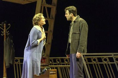"""Cherry Jones and Zachary Quinto in """"The Glass Menagerie"""" at the Booth Theatre in New York."""