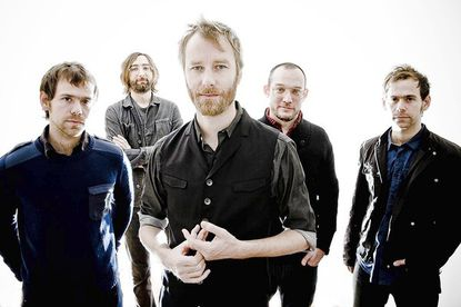 """The National performs at <a href=""""http://findlocal.baltimoresun.com/listings/merriweather-post-pavilion-columbia"""">Merriweather Post Pavilion</a>."""