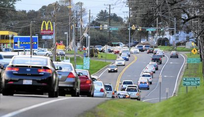 Harford County Executive Barry Glassman is asking the state to back construction of additional travel lanes along Route 22 from the Schucks Road/Thomas Run Road intersection, above, to Prospect Mill Road, part of a $28 million wish list of state funded projects.